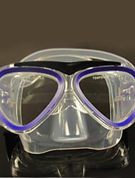 Tauchmasken Zwei-Fenster- niños PVC Blau