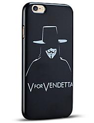 v pour vendetta couvercle de protection arrière souple coque iphone 6s iphone plus / iphone 6 plus