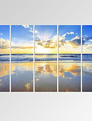 Abstracto / Fantasia / Lazer / Paisagem / Fotografia / Patriótico / Moderno / Romântico / Pop Art / Viagem Impressão em tela 5 Painéis