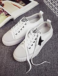 Scarpe Donna-Sneakers alla moda-Casual-Comoda-Piatto-Di pelle-Nero / Bianco