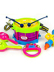 Bell Horn Hand Drum ABS Red / Blue / Yellow / Purple Music Toy