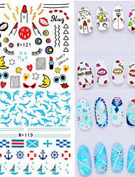 1pcs Fresh Nail Watermark Sticker 116-121