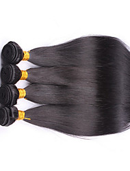 4Pcs Lot Peruvian Virgin Hair Straight 100% Human Hair Extensions  Straight Human Hair Weaves