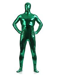 Costumes zentai brillants Ninja Costume Zentai Costumes de Cosplay Vert Couleur Pleine Collant/Combinaison / Costume ZentaiElasthanne /