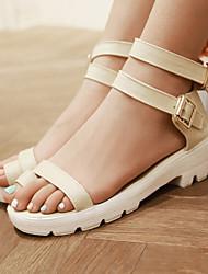 Women's Shoes Low Heel Toe Ring/Open Toe Sandals Dress/Casual Black/Blue/Yellow/Beige