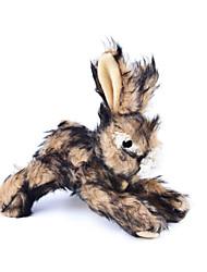 Коты / Собаки Игрушки для животных Плюшевые игрушки Скрип / Кролик Коричневый Текстиль