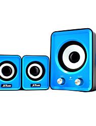 """jituo 2802 usb portable alimenté 2.1 canaux haut-parleurs d'ordinateur salut-fi stéréo livrés avec 3 """"vrai subwoofer et la puissance usb"""
