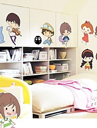 Hot Style Popular Children Room Spirited Away And Totoro Wall Stick Hayao Miyazaki Anime Characters