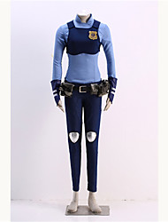 Inspired by Anime Cosplay Costumes Cosplay Suits Print Blue Shirt / Breastplate / Pants / Gloves / Belt / Kneepad / Bag