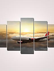 Moderno Impressão em tela 5 Painéis Pronto para pendurar,Horizontal