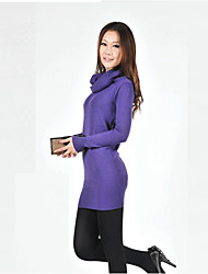 Women's Sexy / Cocktail / Work / Cute / Street chic Solid Sweater Dress,Shirt Collar Above Knee