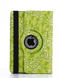 360 graus de uva de grãos de couro pu caso da tampa da aleta para iPad Mini 4 (cores sortidas)
