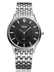 Men's Japanese Analog Quartz Silver Steel Band Water Resistant Dress Watch Jewelry Cool Watch Unique Watch