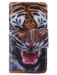 Tiger Painted PU Phone Case for Sony Xperia Z5 Compact Z5 M5 M2 XA Xperformace