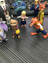 Zootopia Mystery Mini Figure set of 12 Utopia Action Figure Movie Pvc Models 4-8cm Nick Fox Judy Rabbit(12pcs/lot)