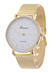 Damen Modeuhr Quartz Legierung Band Gold Golden