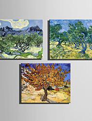 Mini pintura al óleo de tamaño de correo hogar moderno árboles fantásticos mano pura dibujan pintura decorativa sin marco