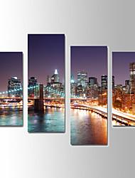 Paysage Toile Quatre Panneaux Prêt à accrocher,Format Vertical