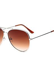 Óculos de Sol Homens / Mulheres / Unissex's Clássico / Retro / Vintage / Aviador Anti-UV / 100% UV / Anti-Radiação Aviador PrateadaÓculos