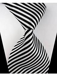 Krawatte(Schwarz / Weiß,Polyester)Gestreift