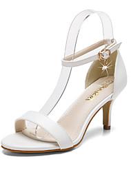 Women's Shoes Stiletto Heel Heels / Pointed Toe / Open Toe Sandals Dress Black / White / Almond