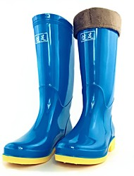 Women's Spring / Summer / Fall / Winter Rain Boots Silicone Outdoor Flat Heel Black / Blue / Red