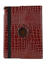 360 degrés de crocodile modèle en cuir PU de rabat pour ipad AIR3 / ipad pro mini-(couleurs assorties)