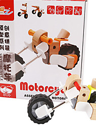 Children Toy Product Assembling Wooden  Motorcycle Assembly Models