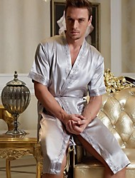 Men's Bathrobe / Silk Bathrobe