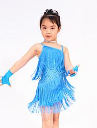 Latin Dance Dancewear Adults' Children's Fringe Latin Dress