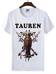 flamejantes mundo Light® of warcraft uau lycra de algodão t-shirt da raça tauren cosplay