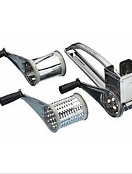 de aço inoxidável de mão rotativo ralador de queijo artesanal cozinha criativa portátil com cortador 7-8 buraco