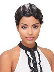Wavy Short Celebrity Short 100% human hair wigs Machine Made Short Wig Human Hair None Lace Brazilian Hair Wig
