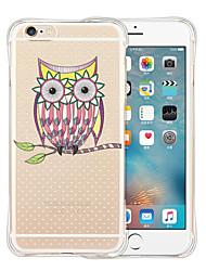 OWL retour silicone étui transparent souple pour iphone 6 / 6s (couleurs assorties)