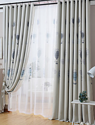Two Panels Modern Balloon Living Room Polyester Blackout Curtains Drapes