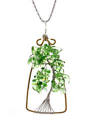 Natural crystal pendant crystal gravel Lucky Tree Creative Chakra Tree of Life moneymaker multicolor