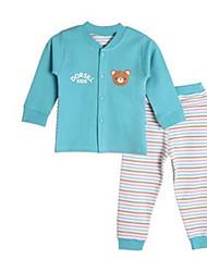 Girl's Clothing Set,Cotton Spring Blue / Brown