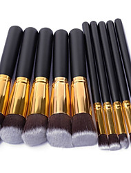 10PCS Professional Makeup Cosmetic Face&Eyeshadow Brushes Set with Brush Egg Powder Blush Eyeshadow Concealer Brush
