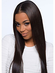Beautiful 20inch Long Silk Straight Natural Color Brazilian Virgin Hair Lace Front Wig