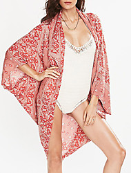 Women's Halter Cover-Ups,Floral Wireless / Padless Bra Cotton Red