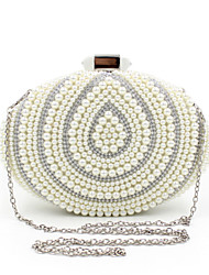 L.WEST® Women's Handmade High-grade Oval Pearl Diamonds Party/Evening Bag