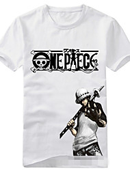 Inspired by One Piece Trafalgar Law Anime Cosplay Costumes Cosplay T-shirt Print Short Sleeve T-shirt For Unisex