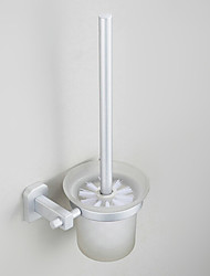 Toilet Brush Holder Anodizing Wall Mounted 28*23*18cm Aluminum Contemporary