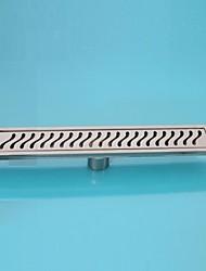 Linear Floor  Drain Stainless Steel Adjustable Exit Plain Model(400mm)