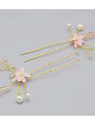 Women's Rhinestone / Crystal / Alloy Headpiece-Wedding / Special Occasion Hair Pin 2 Pieces
