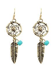Fashion Women Vintage Dream Catcher Drop Earrings