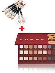 la venta de 32 colores de sombra de ojos maquillaje conjunto caliente + 10pcs cepillo de sombra de ojos