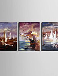 Mini Size E-HOME Oil painting Modern Sailing On The Sea Pure Hand Draw Frameless Decorative Painting