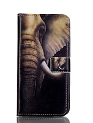 For Samsung Galaxy S7 Edge Wallet / Card Holder / with Stand / Flip Case Full Body Case Elephant PU Leather SamsungS7 edge / S6 edge plus