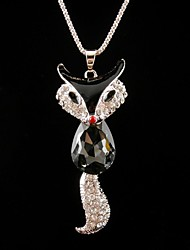 KAILA Women's Fashion Rhinestone Metal Pendant Necklace